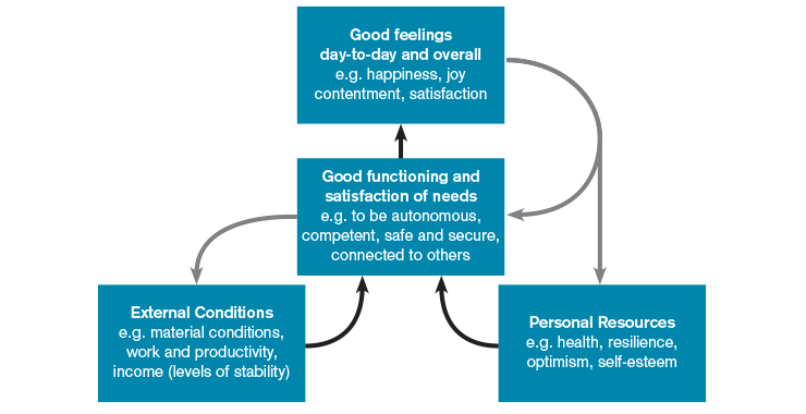 Dynamic model of wellbeing